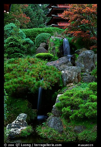 Picture photo formal gardens cascade in the japanese for Formal japanese garden