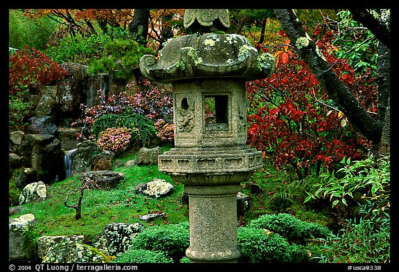Urn, Japanese Garden, Golden Gate Park. San Francisco, California, USA