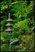 Stupa, Japanese Garden, Golden Gate Park. San Francisco, California, USA (color)