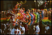 Dragon during the Chinese New Year celebration. San Francisco, California, USA (color)