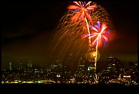 fourth of July fireworks above the City. San Francisco, California, USA ( color)