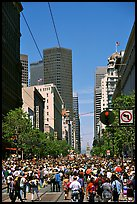 Crowds on Market Avenue during the Gay Parade. San Francisco, California, USA ( color)