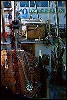 Detail of Fishing boat, Fisherman's Wharf. San Francisco, California, USA (color)