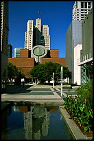 Museum of Modern Art from Yerba Buena Gardens. San Francisco, California, USA