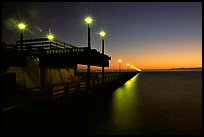Berkeley Pier at sunset. Berkeley, California, USA (color)