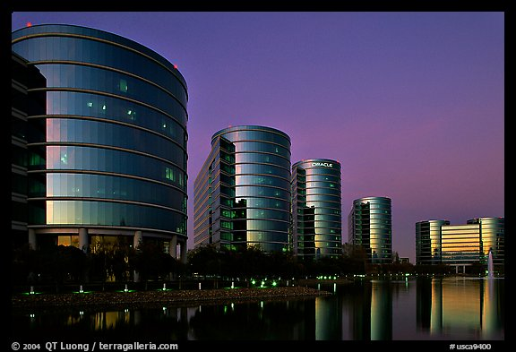 Oracle corporate headquarters. Redwood City,  California, USA (color)