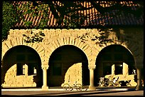 Arches of the Quad in mauresque style. Stanford University, California, USA (color)