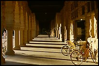Hallway and bicycles. Stanford University, California, USA ( color)