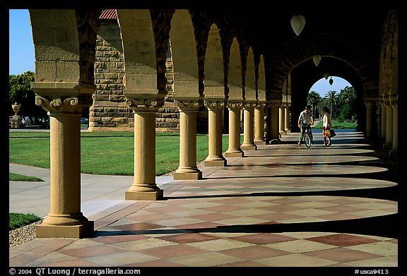 Mauresque style gallery, Main Quad. Stanford University, California, USA (color)