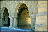 Arches of Main Quad. Stanford University, California, USA ( color)