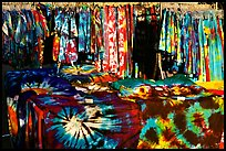 Colorful Tye die T-shirts for sale. Berkeley, California, USA ( color)
