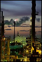 Oil Refinery at sunset, Rodeo. San Pablo Bay, California, USA