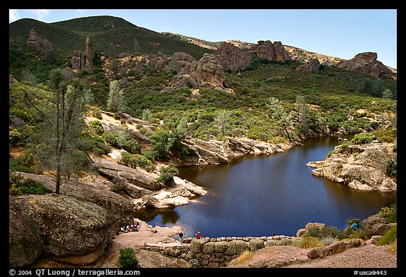 Bear Gulch Dam and reservoir. Pinnacles National Park (color)