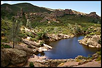 Bear Gulch Dam and reservoir. Pinnacles National Park, California, USA.