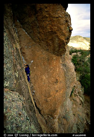 Rock climber. Pinnacles National Monument, California, USA (color)