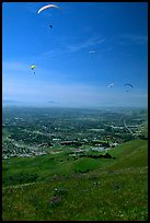 Paragliders, Mission Peak Regional Park. California, USA ( color)