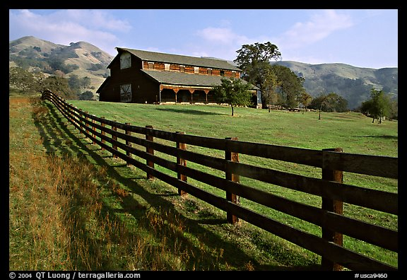Ranch, Sunol Regional Park. California, USA (color)