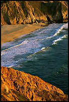 Beach near Devil's slide, sunset. San Mateo County, California, USA (color)