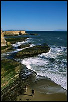 Surf, slabs, and cliffs, Wilder Ranch State Park. California, USA ( color)