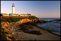 Pigeon Point Lighthouse, sunset. San Mateo County, California, USA (color)