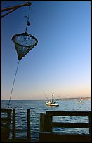 Fishing basket, Fisherman's wharf. Monterey, California, USA (color)