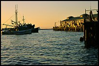 Fisherman's wharf at sunset. Monterey, California, USA