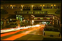 Cannery Row  at night, Monterey. Monterey, California, USA (color)
