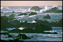 Surf and rocks, Ocean drive. Pacific Grove, California, USA ( color)