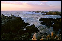 Coastline at sunset, Asilomar State Beach. Pacific Grove, California, USA ( color)
