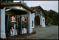 Gas station, highway 1. Carmel-by-the-Sea, California, USA (color)