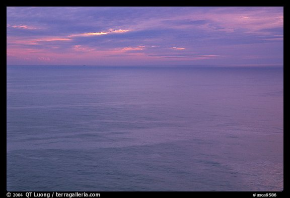Pastel sunset  over the Ocean. Big Sur, California, USA (color)