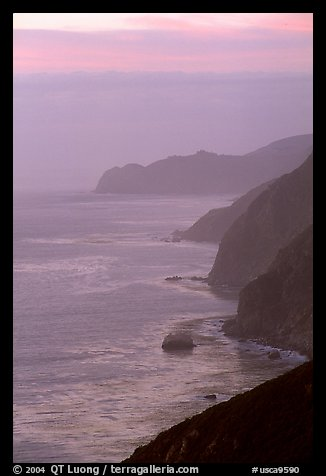 Coastline at sunset. Big Sur, California, USA (color)