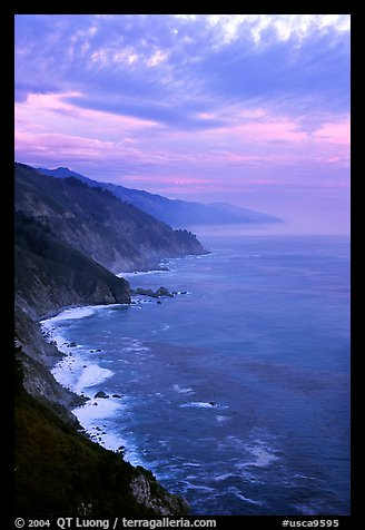 Coast at sunset. Big Sur, California, USA
