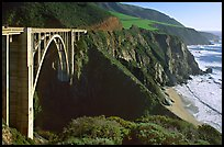 Bixby Creek Bridge. Big Sur, California, USA (color)