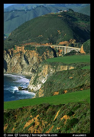 Bluffs and Bixby Creek Bridge. Big Sur, California, USA (color)