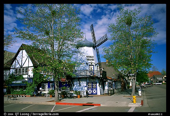 Windmill, Danish village of Solvang. California, USA