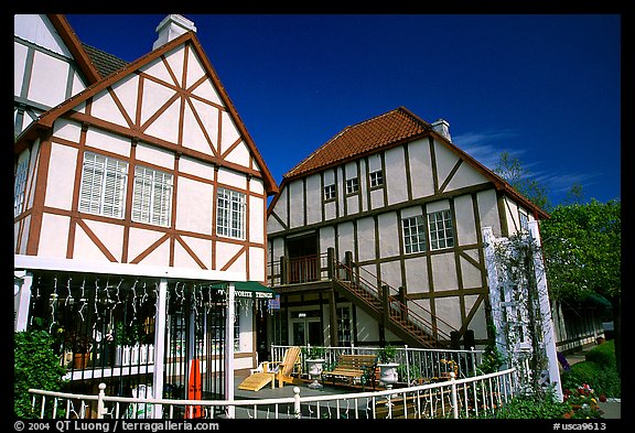 picture photo half timbered houses danish village solvang