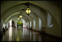 Corridors of the courthouse. Santa Barbara, California, USA ( color)