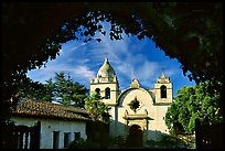 Mission San Carlos Borromeo Del Rio Carmelo. Carmel-by-the-Sea, California, USA (color)
