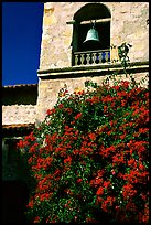 Bell tower of Carmel Mission. Carmel-by-the-Sea, California, USA (color)