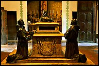 Statues of the fathers, Carmel Mission. Carmel-by-the-Sea, California, USA