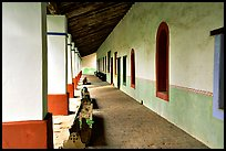 Cloister, Mission San Miguel Arcangel. California, USA ( color)