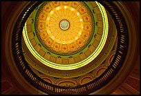 Dome of the state capitol from inside. Sacramento, California, USA (color)