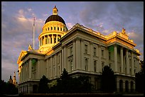 California State capitol, sunset. Sacramento, California, USA (color)