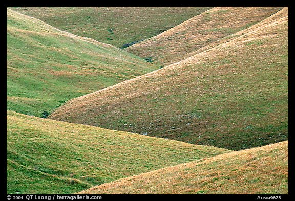 Ridges, Southern Sierra Foothills. California, USA