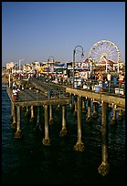 Pier and Ferris Wheel, late afternoon. Santa Monica, Los Angeles, California, USA ( color)