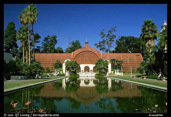 Conservatory of flowers, Balboa Park. San Diego, California, USA