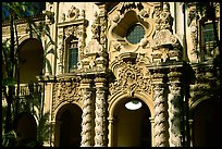 Casa Del Prado gate, afternoon, Balboa Park. San Diego, California, USA ( color)