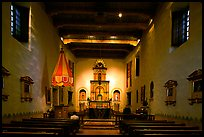 Chapel,  Mission San Diego de Alcala. San Diego, California, USA (color)