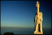 Statue of Cabrillo, Cabrillo National Monument. San Diego, California, USA (color)
